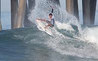 Huntington Beach, CA - Thursday August 03, 2017: Joshua Moniz during a World Surf League (WSL) Qualifying Series (QS) second round heat in the 2017 Vans US Open of Surfing on the South side of the Huntington Beach pier.