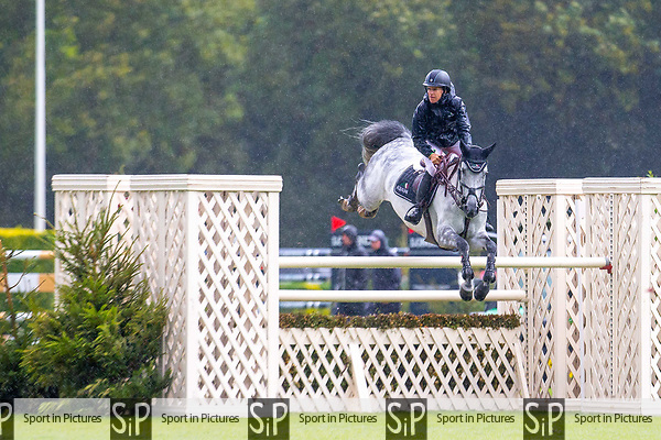 Winner. Laura Kraut riding Greatfull. USA. The Old Lodge International  7&8 year old Championship. Showjumping. Jump Off. Longines FEI Jumping Nations Cup of Great Britain at the BHS Royal International Horse Show. All England Jumping Course. Hickstead. Great Britain. 29/07/2018. ~ MANDATORY Credit Elli Birch/Sportinpictures - NO UNAUTHORISED USE - 07837 394578