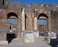 Entrance to the Macellum, Pompeii, 2nd century BC. The covered food market, is North East of the Forum
