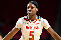 College Park, MD - March 23, 2019: Maryland Terrapins guard Kaila Charles (5) during first round action of game between Radford and Maryland at Xfinity Center in College Park, MD. Maryland defeated Radford 73-51. (Photo by Phil Peters/Media Images International)