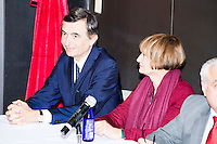From left, Philippe Douste-Blazy speaks on a panel with Baroness Tessa Jowell and Luiz Odorico Monteiro de Andrade during Douste-Blazy's visit to Harvard University's T. H. Chan School of Public Health in Boston, Massachusetts, USA. The visit is part of his campaign to become Director General of the World Health Organization. Jowell has served in the UK as a member of parliament and held various ministerial positions. Odorico is a current member of the Brazilian parliament and has served Minister of Health for numerous districts in the country. During the visit, Doutse-Blazy met with professors, students, and visiting scholars, including former Ministers of Health from England and Brazil. Doutse-Blazy is Under-Secretary-General and Special Adviser on Innovative Financing for Development in the United Nations and chairman of UNITAID. He served as Minister of Health, Minister of Culture, and Foreign Minister in the French government and was also mayor of Lourdes and Toulouse.