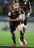 1st August 2020, Hamilton, New Zealand;  Chiefs first five Aaron Cruden, playing his 100th game for the Chiefs. Chiefs versus Crusaders, Super Rugby Aotearoa. FMG Stadium Waikato, Hamilton, New Zealand.