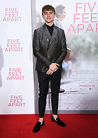 07 March 2019 - Westwood, California - Hart Denton. &quot;Five Feet Apart&quot; Los Angeles Premiere held at the Fox Bruin Theatre.  <br /> CAP/ADM/BT<br /> &copy;BT/ADM/Capital Pictures