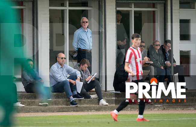 Wycombe Wanderers chairman Trevor Stroud looks on during the behind closed doors friendly between Brentford B and Wycombe Wanderers at Brentford Football Club Training Ground & Academy, 100 Jersey Road, TW5 0TP, United Kingdom on 3 September 2019. Photo by Andy Rowland.