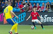 June 1th 2017, Ullevaal Stadion, Oslo, Norway; International Football Friendly 2018 football, Norway versus Sweden; Mats Moller Daehli of Norway in action during the International Football Friendly match