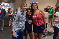 PASADENA, CA - AUGUST 4: Jill Ellis and Cecily Strong pose during a game between Ireland and USWNT at Rose Bowl on August 3, 2019 in Pasadena, California.