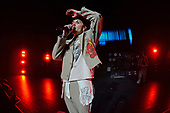 MIAMI BEACH, FL - OCTOBER 29: Oliver Sykes of Bring Me the Horizon performs at the Fillmore on October 29, 2019 in Miami Beach, Florida. Credit Larry Marano © 2019