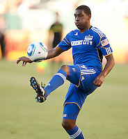 CARSON, CA – SEPTEMBER 19: KC Wizard midfielder Craig Rocastle (4) during a soccer match at Home Depot Center, September 19, 2010 in Carson California. Final score Chivas USA 0, Kansas City Wizards 2.