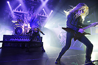 LONDON, ENGLAND - FEBRUARY 11: Alissa White-Gluz and Jeff Loomis of 'Arch Enemy' performing at KOKO on February 11, 2018 in London, England.<br /> CAP/MAR<br /> &copy;MAR/Capital Pictures