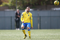 Georgios Aresti of Haringey during Haringey Borough vs Stanway Rovers, Emirates FA Cup Football at Coles Park Stadium on 25th August 2018