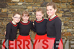 Ellen O'Donoghue, Leanne Sheehan, Ivana Neilon and Aisling Harty, of the Causeway Set Dancing group at Siamsa Tire on Friday evening.