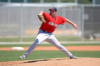 Boston Red Sox pitcher Daniel McGrath during a minor league Spring Training game against the Minnesota Twins at JetBlue Park Training Complex on March 27, 2013 in Fort Myers, Florida.  (Mike Janes/Four Seam Images)