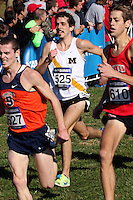 Missouri senior Max Storms kicks to the finish of the 10k race at the NCAA Division I Cross Country National Championships in Louisville, KY, Saturday. Storms finished in 56th place in 30:23.