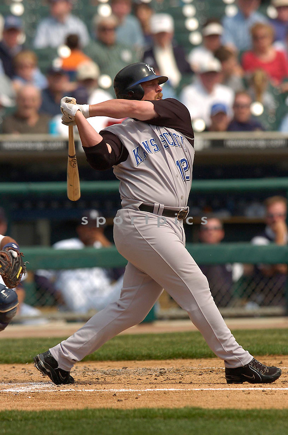 Matt Stairs during the Kansas City Royals v. Detroit Tigers game on April 6, 2005...Royals win 7-2..Chris Bernacchi / SportPics
