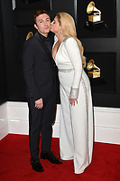 LOS ANGELES, CA - FEBRUARY 10: Daryl Sabara and Meghan Trainor at the 61st Annual Grammy Awards at the Staples Center in Los Angeles, California on February 10, 2019. <br /> CAP/MPIFS<br /> &copy;MPIFS/Capital Pictures