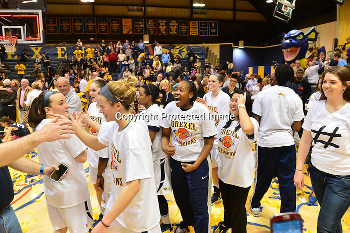 PHILADELPHIA - Taylor Wootton will end her career with a win. The senior forward, who has played more games than anyone who has ever worn a Drexel uniform, saved one of her best games for last as she scored a game-high 16 points and added six rebounds to help guide the Drexel women's basketball team to the 2013 WNIT championship with a 46-43 victory over Utah. Wootton, who has played in a Dragon-record 131 games, became just the 21st player in Drexel women's basketball history to reach 1,000 career points early in the second half, and finished her career with 1,001.<br /> <br /> <br /> <br /> Hollie Mershon will end her career with a win. The senior guard played just one game less than Wootton over the course of her career, and finished the season as Drexel's leading scorer. She was named the WNIT Most Valuable Player after a performance that saw her score 14 points, including 12 in the second half. Mershon drove down the left side and scored with 21 seconds remaining to give the Dragons a 44-43 lead, and after a Utah turnover, Mershon hit both ends of a 1-and-1 to put the Dragons up by their final margin of three points.<br /> <br /> <br /> <br /> Renee Johnson-Allen will end her career with a win. The senior guard finished with six points and three rebounds after a season in which she became arguably the Dragons' best rebounder despite her 5'6&quot; stature. Johnson-Allen, who started the season's final 15 games, figured into one of the championship game's most important plays late in the contest. With the Utes up by a point and taking the ball out of bounds under their own basket, Wootton tipped the inbounds pass to Johnson-Allen, who somehow kept the ball inbounds and helped Drexel regain possession with 30 seconds remaining. That led to Mershon's go-ahead layup nine seconds later.<br /> <br /> <br /> <br /> Nicki Jones will end her career with a win, too. The senior forward has missed the season's final 15 games after sustaining a knee injury in the Dragons' loss at Hofstra on Valentine's Day.