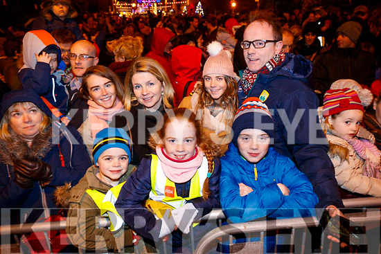 Shea, Jean, Ashley, Janette, Cillian and Micko Horan, Tralee at the Fireworks in Tralee on New Years Eve.
