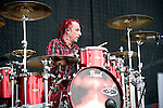 Morgan Rose of Sevendust performs during the 2013 Rock On The Range festival at Columbus Crew Stadium in Columbus, Ohio.