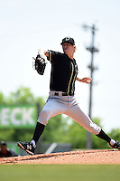 Omaha Storm Chasers pitcher John Lamb (14) delivers a pitch during a game against the Nashville Sounds on May 20, 2014 at Herschel Greer Stadium in Nashville, Tennessee.  Omaha defeated Nashville 4-1.  (Mike Janes/Four Seam Images)