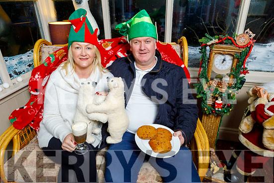 Terri O'Hanlon and Liam O'Sullivan relaxing and enjoying the festive season at the the Community Market in Ballybunion on Sunday.