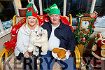 Terri O'Hanlon and Liam O'Sullivan relaxing and enjoying the festive season at the the Community Market in Ballybunion on Sunday.