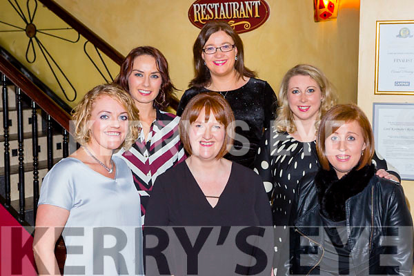 Marie Fitzgerald, Castlegregory who met up with Nurses she trained with in Limerick in Lord Kenmares restaurant on Saturday night  l-r: Molly Quinlan, Brid Quirke. Linda Daly, Julie Flynn, Ann Marie Lane and Marie Fitzgerald