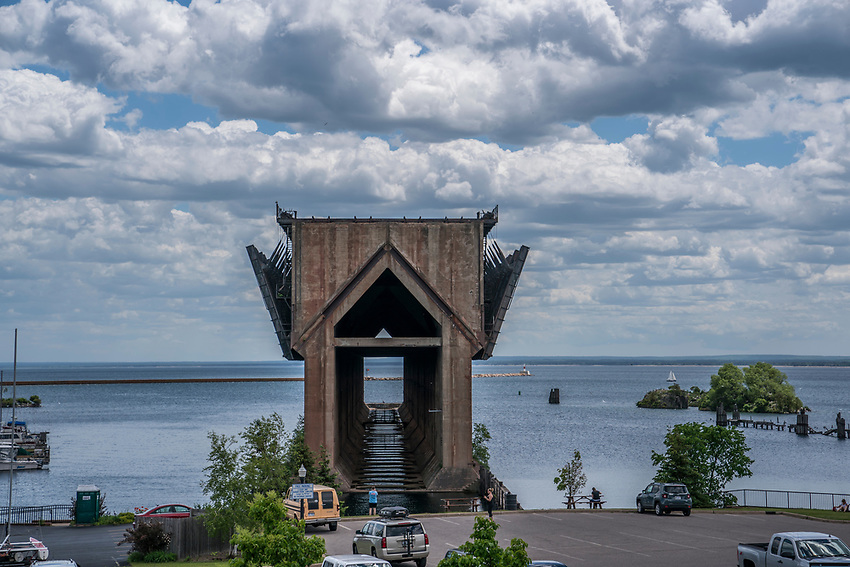 The Lower Harbor Ore Dock in Marquette, Michigan was formerly used for loading iron ore pellets on freighters.