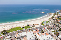 Laguna Main Beach Aerial Stock Photo