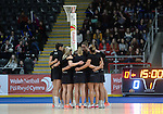 New Zealand have a team talk during the pre-match warm-up  <br /> <br /> Swansea University International Netball Test Series: Wales v New Zealand<br /> Ice Arena Wales<br /> 08.02.17<br /> &copy;Ian Cook - Sportingwales