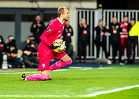 12th March 2020, TGW Arena, Pasching, Austria; UEFA Europa League football,  LASK versus Manchester United;  Goalkeeper Alexander Schlager LASK collects the through ball