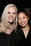 "Katie Rose Clarke and Eva Noblezada during The Opening Night Actors' Equity Gypsy Robe Ceremony honoring Catherine Ricafort for the New Broadway Production of  ""Miss Saigon""  at the Broadway Theatre on March 23, 2017 in New York City"