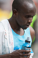 Abraham Chelenga after a great effort in 2013 Madrid Marathon