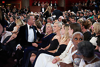 Tom Hanks, Charlize Theron and Margot Robbie share a moment during the live ABC Telecast of The 92nd Oscars® at the Dolby® Theatre in Hollywood, CA on Sunday, February 9, 2020.<br /> *Editorial Use Only*<br /> CAP/AMPAS<br /> Supplied by Capital Pictures