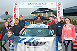 1119-1123.---------.Rally launch.------------.At the official launch for the 21st anniversary of the Banna beach Hotel sponsored winter stages rally last Friday evening were L-R Jason Brick,Marie&Shane Quirke,David Griffin(Chief Marshall)Sean Campbell,Thomas Fitzmaurice,Sean Hegarty,Jakes Kelly(Clerk of the Course)Seamus O'Connor(Kerry motor club PRO)and Lisa Roche.