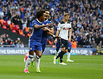Chelsea's Willian celebrates scoring his sides second goal during the FA Cup Semi Final match at Wembley Stadium, London. Picture date: April 22nd, 2017. Pic credit should read: David Klein/Sportimage