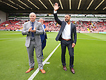 Kell Brook (r) with his dad Terry (c) and Dominic Ingle (l) during the League One match at Bramall Lane Stadium, Sheffield. Picture date: September 17th, 2016. Pic Simon Bellis/Sportimage