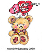 VALENTINE, VALENTIN, paintings+++++,KL4573/3,#v#, EVERYDAY ,sticker,stickers ,bear,bears