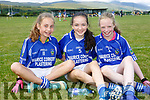 At the 4th annual Sandra Keane u/13 ladies football blitz in the John Mitchels sports complex on Saturday were Isabel Sheehan, Ava Dolan, Laura Patten from Laune Rangers