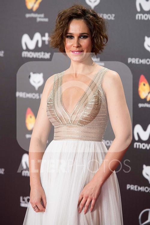 Celia Freijeiro  attends red carpet of Feroz Awards 2018 at Magarinos Complex in Madrid, Spain. January 22, 2018. (ALTERPHOTOS/Borja B.Hojas)