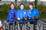 Margo Barry, Sonia Waldron, Aisling Ryan at the IT Tralee Student and Staff Fun Triathlon at the South Campus on Monday
