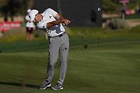Sergio Garcia (ESP) on the 16th fairway during Round 3 of the Abu Dhabi HSBC Championship at the Abu Dhabi Golf Club, Abu Dhabi, United Arab Emirates. 18/01/2020<br /> Picture: Golffile | Thos Caffrey<br /> <br /> <br /> All photo usage must carry mandatory copyright credit (© Golffile | Thos Caffrey)
