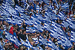 Queens Park Rangers 1 Derby County 0, 24/05/2014. Wembley, Championship play-off final. QPR fans wave flags. Photo by Simon Gill