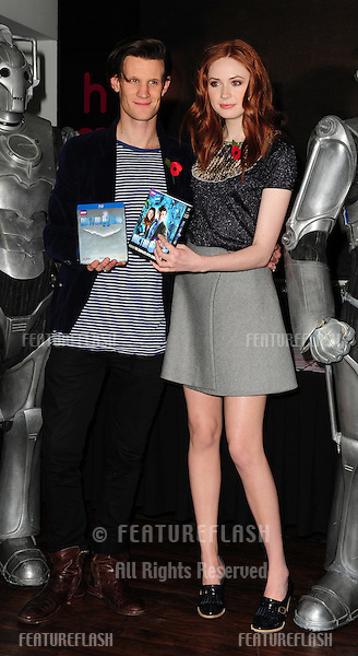 Karen Gillan and Matt Smith at the Dr Who DVD Signing, HMV Oxford Street, London. 08/11/2010 Picture by: Simon Burchell / Featureflash.