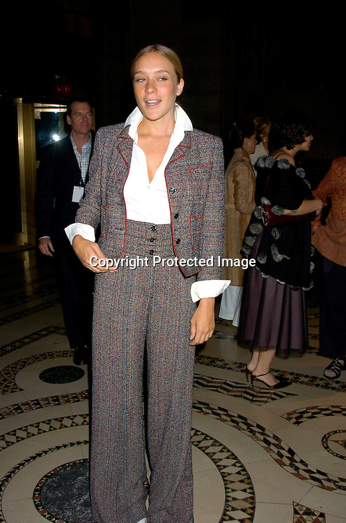 Chloe Sevigny in Chanel ..at the Dennis Basso Fall/Winter 2004 Fur Fashion Show on ..May 26, 2004 at Cipriani 42nd Street . Photo by Robin Platzer, Twin Images