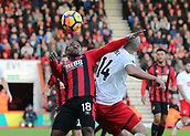 3rd December 2017, Vitality Stadium, Bournemouth, England; EPL Premier League football, Bournemouth versus Southampton; Jermain Defoe of Bournemouth controls the ball as Oriol Romeu of Southampton challenges