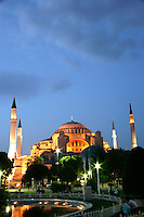 The exterior of the Hagia Sophia, Istanbul, Turkey