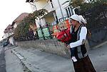 ROMa people in the streets of Tirgu Jiu, Romania.