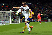 Harry Kane of Tottenham Hotspur and Medhi Benatia of Juventus during Tottenham Hotspur vs Juventus, UEFA Champions League Football at Wembley Stadium on 7th March 2018