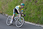 Race leader Max Schachmann (GER) Bora-Hansgrohe near the end of Stage 5 of the Tour of the Basque Country 2019 running 149.8km from Arrigorriaga to Arrate, Spain. 12th April 2019.<br /> Picture: Colin Flockton | Cyclefile<br /> <br /> <br /> All photos usage must carry mandatory copyright credit (&copy; Cyclefile | Colin Flockton)