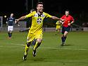 St Mirren's Stephen Mallan celebrates after he scores their second goal.